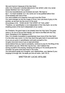 WHO IS THE HOLY SPIRIT - EDITORIAL10