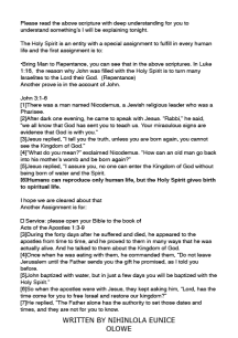 WHO IS THE HOLY SPIRIT - EDITORIAL3