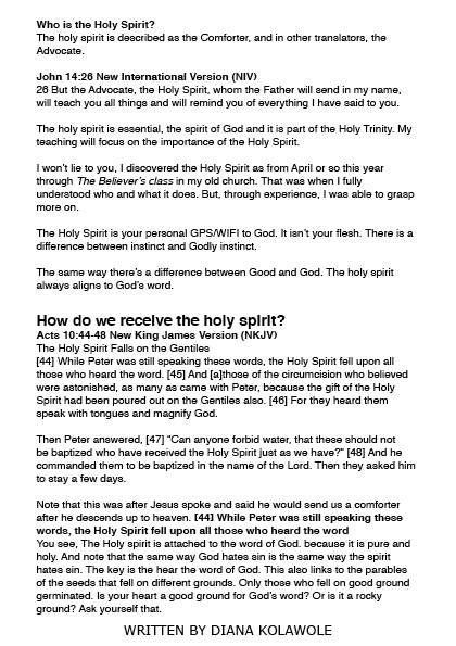 WHO IS THE HOLY SPIRIT - EDITORIAL6