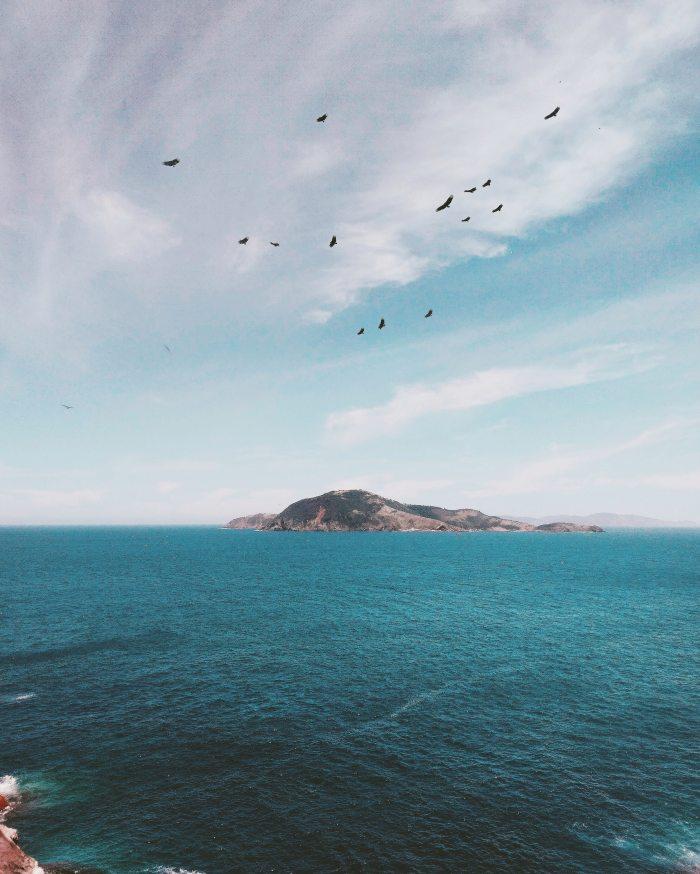 A lone island